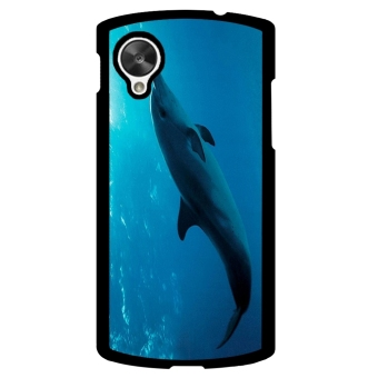 Dophin Pattern Phone Case for LG Nexus 5 (Black)