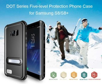 DOT Series Waterproof Shockproof Dirtproof Snowproof Phone Case forSamsung Galaxy S8 plus with Magnet Support your hands - intl