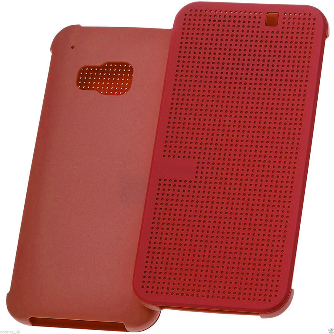 dot view flip leather case for htc one red lazada ph