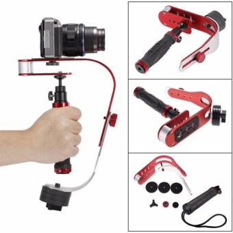 Dream Pro Handheld video Camera Stabilizer Steady, Perfect forGoPro, Cannon, Nikon or any DSLR camera up to 2.1 lbs With SmoothPro Steady Glide Cam - Red + Silver + Black - intl
