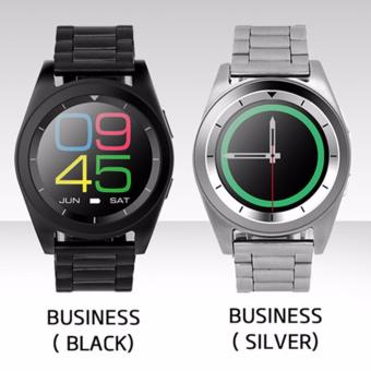 DT G6 Sweatproof Sports and Business Bluetooth Smartwatch withMetal Strap (Black) - 5