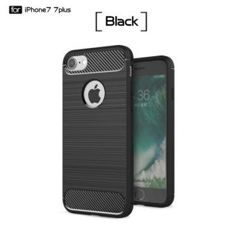 DTD Luxury Hybrid Shockproof Carbon Fiber Texture Brushed Soft TPU Silicon Case For iPhone7 Plus 5.5inch Bumper Back Cover