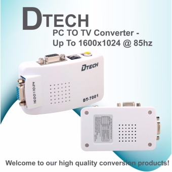 DTech PC TO TV Converter - Up To 1600x1024 @ 85hz