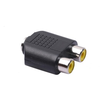Dual 2-RCA Female Jack to 3.5mm 1/8 Stereo Jack Y Splitter AudioCable Adapter - intl
