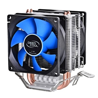 Dual Heat Sink Pipes CPU Cooler Heatsink Cooling Fan Desktops Computer Accessory for Intel LGA1150 1155 775 1156 AMD Socket 100W - intl