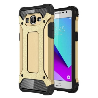 Dual Layer Case for Samsung Galaxy J2 Prime Hybrid TPU PC HeavyDuty Armor Shock Absorbing Protective Cover Gold Price Philippines