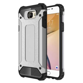 Dual Layer Case for Samsung Galaxy J7 Prime / On7 2016 Hybrid TPUPC Heavy Duty Armor Shock Absorbing Protective Cover Grey Price Philippines