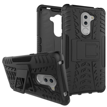Dual Layer Shock-Absorption Armor Cover Full-body Protective Case with Kickstand Combo PC+TPU for Huawei Honor 6X / Mate 9 Lite / GR5 2017 - intl