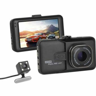 Dual Lens Car DVR Cam Dashcam 1080P Full HD Camcorder VehicleCamera Night Version Dashboard Dash Cam With 170 Degree Angle View(black)