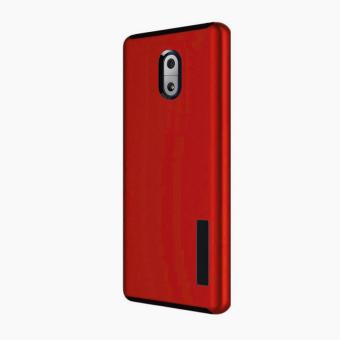 Dual Pro Shockproof Case for Nokia 3 (Red)