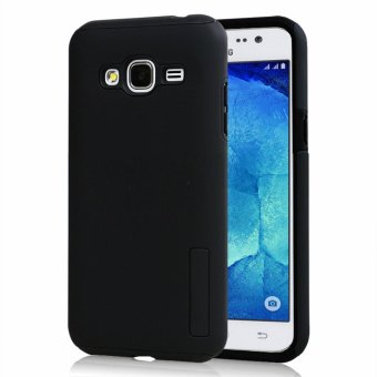 Dual Pro Shockproof Case for Samsung Galaxy J2 Prime (Black)