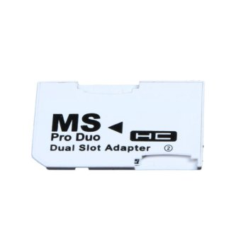 Dual Slot Micro For SD SDHC TF to Memory Stick MS Card Pro DuoReader Adapter - intl
