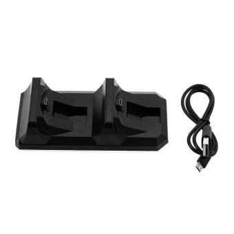 Dual USB Fast Charging Dock Stand Station Charger for PlayStation 4 PS4 Black - 5