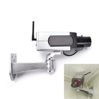 Dummy CCTV Camera Motion Detection Sensor Motorized Pan MovementBlinking LED - intl - 2