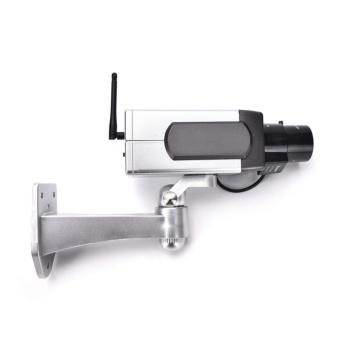 Dummy CCTV Camera Motion Detection Sensor Motorized Pan MovementBlinking LED - intl - 4