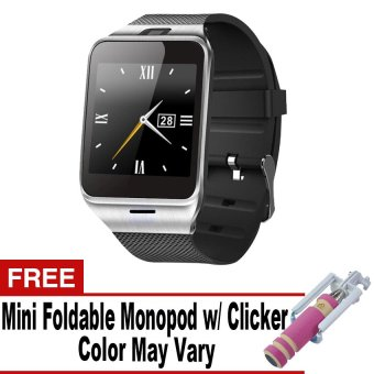DZ-09A1/M8/M9/U8 Phone Quad Smartwatch with SIM andCamera(Silver/Black) with Free Mini Monopod Price Philippines