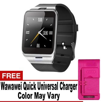 DZ-09A1/M8/M9/U8 Phone Quad Smartwatch with SIM andCamera(Silver/Black) with Free Quick Universal Charger Price Philippines