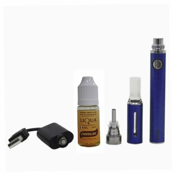 E-vod Electronic Cigarette (Blue) With Liqua Smoke Juice 10ml