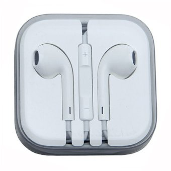 Earpods with Mic and Volume Control Earphone (White)