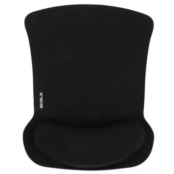 ECOLA MPD-016 Antifatigue Comfort Foam Wave Rest Mice Pad Pro-FitMousepad for Optical Mouse (Black) - intl