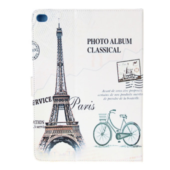 Eiffel Tower Pattern PU Leather Case for iPad 6 (White) - picture 2