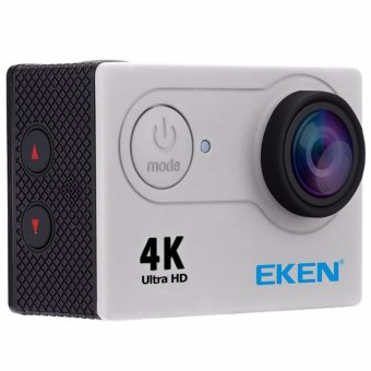 EKEN H9Rse Ultra HD 4K Wi-Fi Waterproof Sports Action Camera & 2.4G Splash proof Remote Shutter (Silver) with 3 Pieces EKEN H9 Front Skin Covers (Multi-Color) - 3