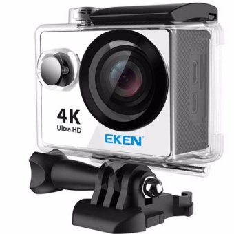 EKEN H9Rse Ultra HD 4K Wi-Fi Waterproof Sports Action Camera & 2.4G Splash proof Remote Shutter (Silver) with 3 Pieces Front Skin Covers and Monopod - 2