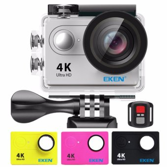 EKEN H9Rse Ultra HD 4K Wi-Fi Waterproof Sports Action Camera &2.4G Splash proof Remote Shutter (Silver) with 3 Pieces EKEN H9Front Skin Covers (Multi-Color) Price Philippines