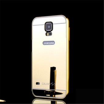 Elaike 2 in 1 Luxury Aluminum Metal Mirror PC Phone Cover Case ForSamsung S5 (Gold) - intl