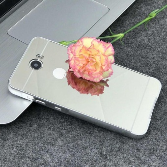Elaike For Huawei Y5II 2 in 1 Luxury Aluminum Metal Mirror PC Phone Cover Case (Silver) - intl