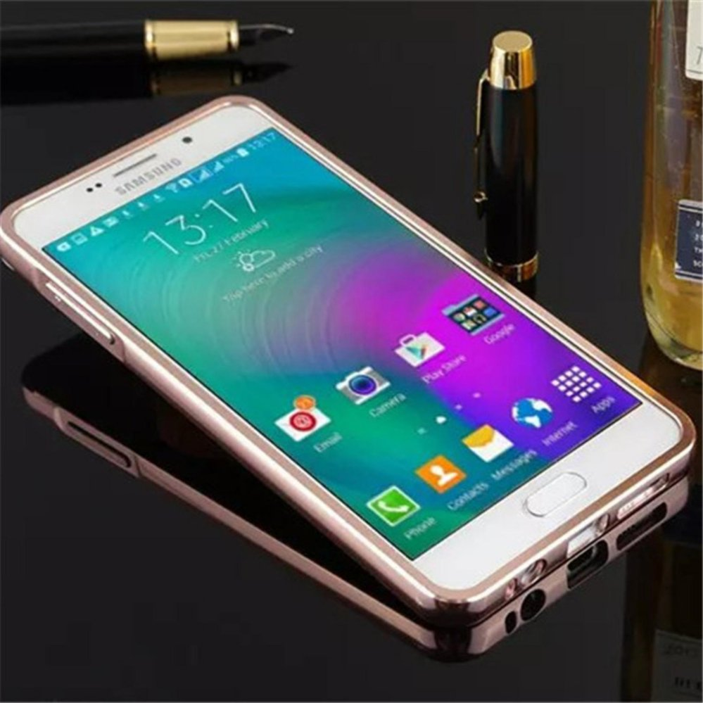 Elaike For Samsung A7 2016 2 in 1 Luxury Aluminum Metal Mirror PCPhone Cover Case ...