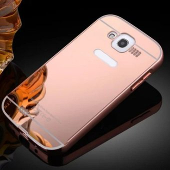 Elaike For Samsung Galaxy Grand I9082 2 in 1 Luxury Aluminum MetalMirror PC Phone Cover Case (Rose Gold) - intl