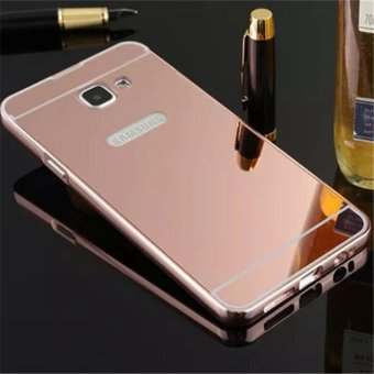 Elaike For Samsung J7 Prime 2 in 1 Luxury Aluminum Metal Mirror PCPhone Cover Case (Rose Gold) - intl
