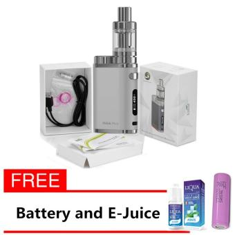 Eleaf iStick Pico 75W Starter Kit Vape Cigarette (Silver) with FREEBattery and Liqua E-Juice