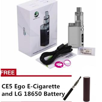 Eleaf iStick Pico 75W Starter Kit Vape Cigarette ( Silver) withfree CE5 Ego E-Cigarette and LG 18650 Battery