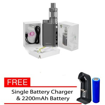Eleaf iStick Pico 75W Starter Kit VapeE-Cigarette (Grey) With FreeSingle Battery Charger/ 2200mAh Battery