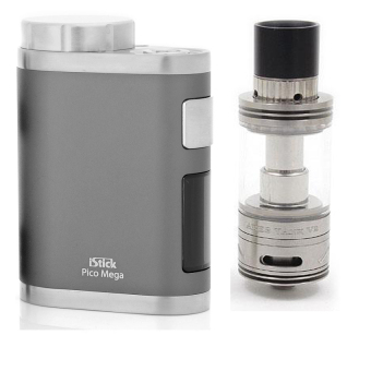 Eleaf iStick Pico Mega 100W TC Mod with Free Ares V2 Top AirflowAtomizer Tank Ecig Full Kit (Silver)