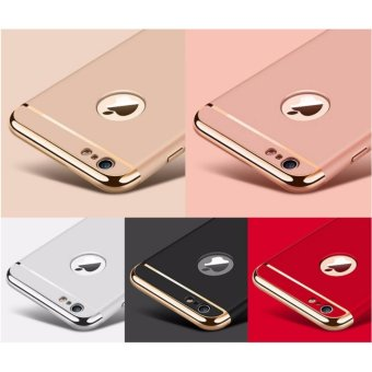 Elegance Luxury 3in1 Protection Cover For iPhone 6 6s case(rose gold) - intl - 5