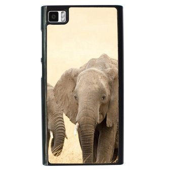 Elephant Cute Pattern Phone Case For Xiaomi Mi3 (Black)