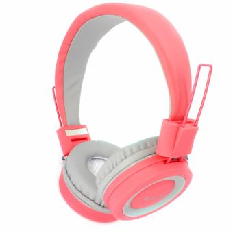ELMCOEI Music and Calls 108dB Over the Ear Bass Drop Stereo HeadPhones (Pink)