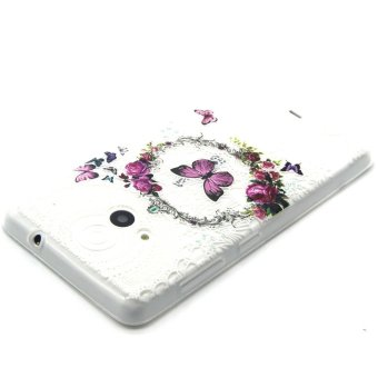 Embossed TPU Phone Case for Microsoft Lumia 535 / 535 Dual SIM -Garland and Butterfly