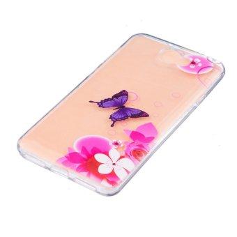 Embossing TPU Case for Huawei Y5II Y5 II Honor 5 Flowers andButterfly .