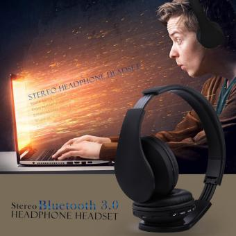 Esogoal Wireless Bluetooth Headphone Foldable Headset Noise Isolation Over Ear Earphone with Mic, (Black) - intl - 2