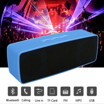 ET-Portable Bluetooth Dual Speakers Ultra Bass (Blue)