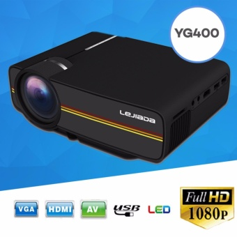 ET-YG-400 1080p LCD Portable Projector for Home Cinema Theater TV (Black)