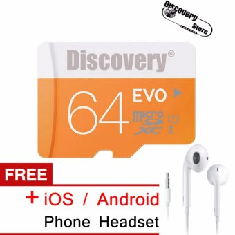 EVO 64GB microSDXC(TM) Memory Card Class 10 for Samsung?Huawei?XiaomiSmartphone + Free iOS/Android Phone Headset . (ORIGINAL) - intl