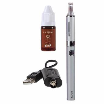 EVOD Electronic Cigarette Vape with Case (Silver) with Liqua SmokeJuice for Electronic Cigarette