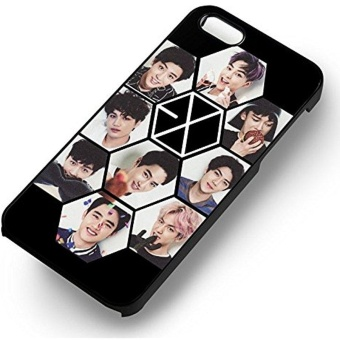 Exo Kpop 9 Members for Iphone 6 and Iphone 6s Case (White RubberCase) - intl Price Philippines