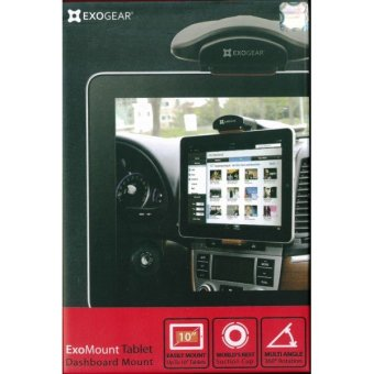 Exogear Exomount Tablet Dash Car Mount Holder for iPad 1/2/3/4Galaxy Note 10.1 (Black)