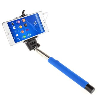 Extendable Handheld Self-portrait Monopod for IOS Android (Blue)